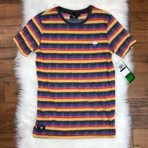 NWT LRG Short Sleeve Striped Tee Colorful